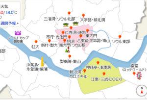 韓国ソウルエリアマップ