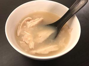 サラダチキンで作る参鶏湯 完成