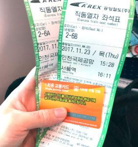 直通列車チケット